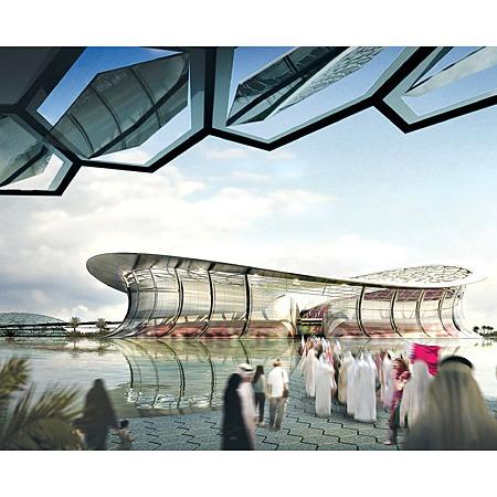 路薩爾球場設計圖,它將是 2022 年世界盃的開幕及決賽場館